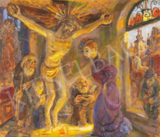 Eladó  Szabó Vladimir - A fényben fürdő festménye