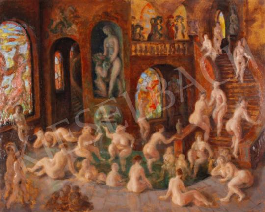Eladó  Szabó Vladimir - Az ifjúság kútja festménye