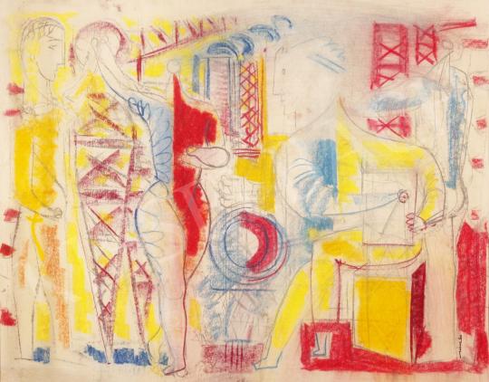 Eladó  Hincz Gyula - Találkozás (Hommage á Picasso) festménye