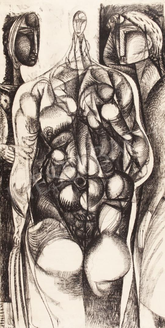 Hincz Gyula - Figurák festménye