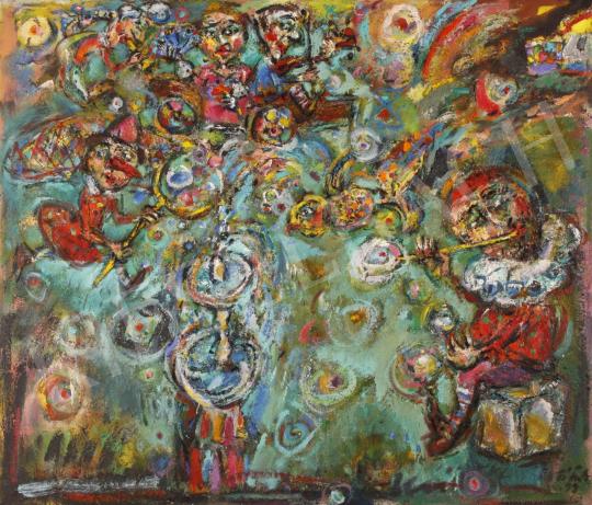 Eladó  Tóth Ernő - Bohóckirály, 1998 festménye