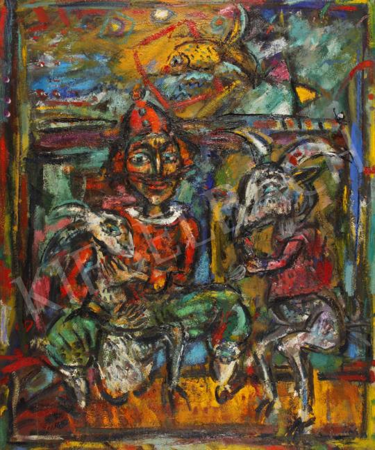 Eladó  Tóth Ernő - Jelenet, 1993 festménye