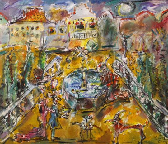 Eladó  Tóth Ernő - Hold-udvar, 2004 festménye
