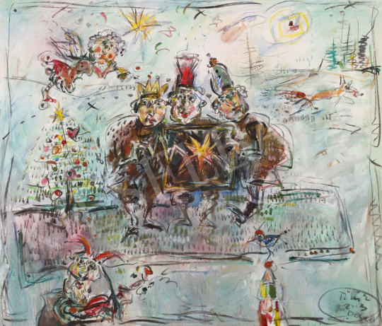 Eladó  Tóth Ernő - Királyok, 2003 festménye