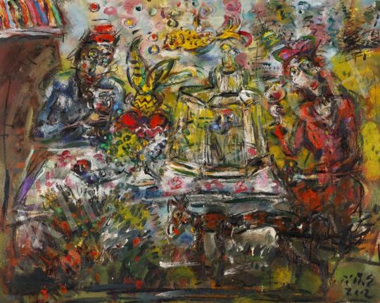 Eladó  Tóth Ernő - Szabadban, 2002 festménye