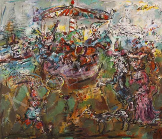 Eladó  Tóth Ernő - Városligeti történet, 2004 festménye