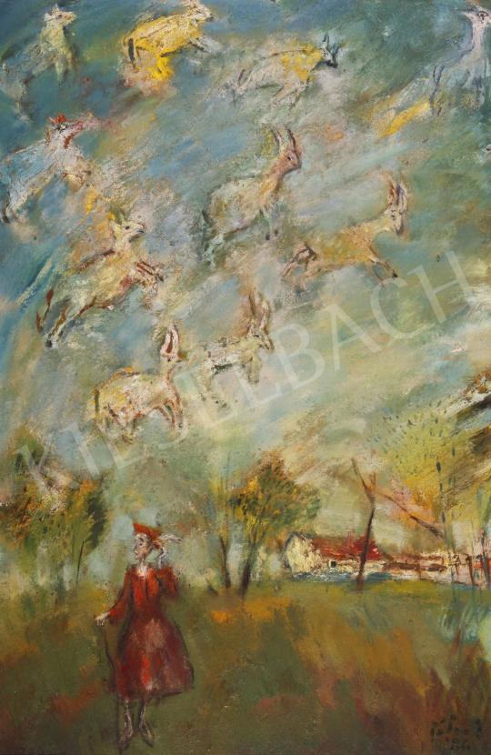 Tóth, Ernő - Vision at Great Hungarian Plain, 1986 painting