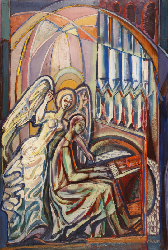 For sale  Józsa, János - In Memoriam Kondor B. (Composition with an Angel), 1978 's painting