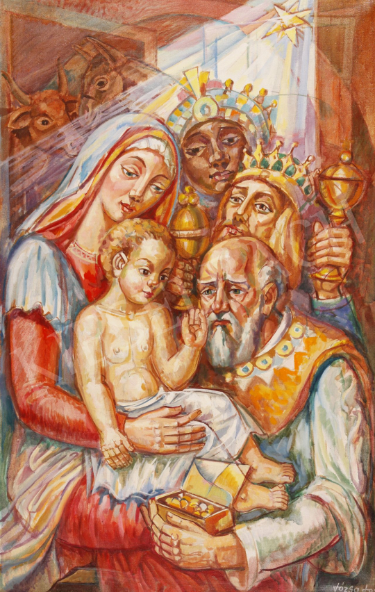 For sale  Józsa, János - Three Kings, 1993 's painting
