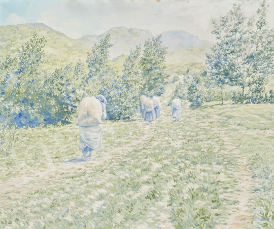 Hoppe István - Hazafelé festménye
