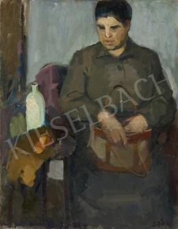 Gera Gyula - Hölgy táskával