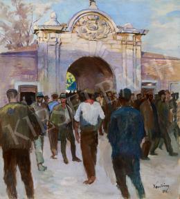 Vesztróczy Manó - A park bejáratánál, 1918