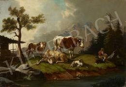 Ismeretlen osztrák festő M. M. jelzéssel - Alpesi táj