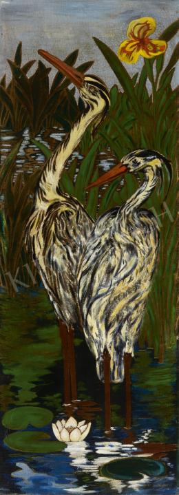 Ismeretlen festő - Daruk (Hódolat Japánnak)