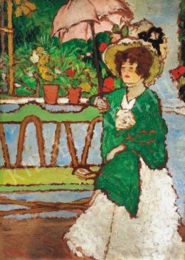 Rippl-Rónai József - Nő napernyővel, 1910 körül