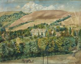 Gáspár Grüll Sándor - Domboldal nyaralóval, 1941