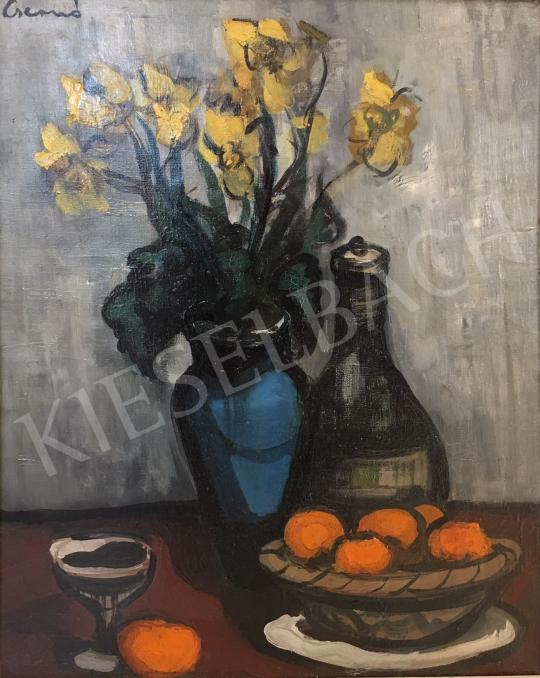 For sale Csernó, Judit - Still Life of Flowers with Oranges 's painting