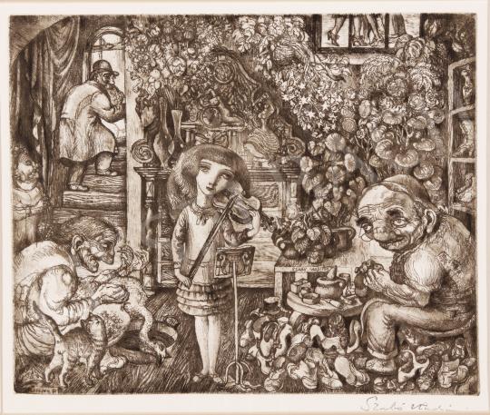 Eladó  Szabó Vladimir - Hegedűszó festménye