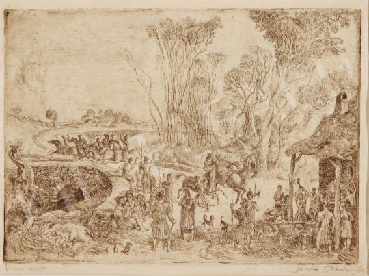 Eladó  Szabó Vladimir - Dózsa népe festménye