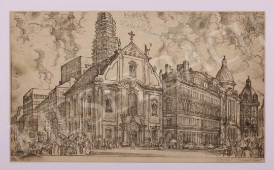 Eladó  Szabó Vladimir - Felszabadulás tér (Ferencziek tere) festménye