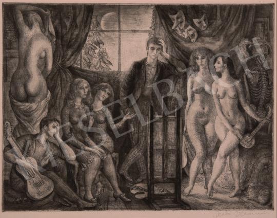 Eladó  Szabó Vladimir - Műteremben festménye