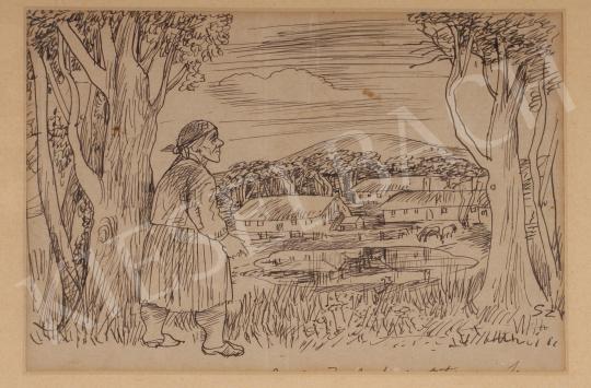 Eladó  Szabó Vladimir - Kilátás a tanyára festménye