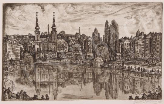 Eladó  Szabó Vladimir - A feneketlen tónál festménye