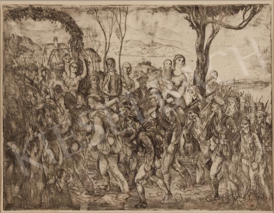 Eladó  Szabó Vladimir - Csatába vonulás festménye