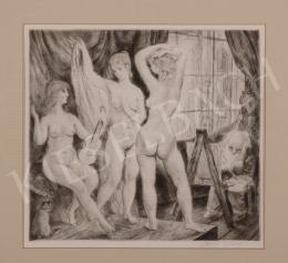Szabó, Vladimir - Modeling Nudes with Violin, 1963
