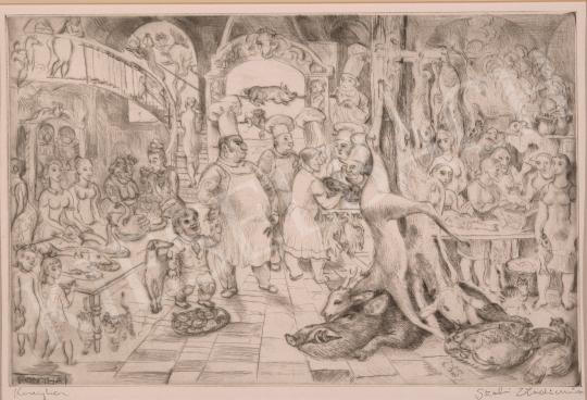 For sale  Szabó, Vladimir - Kitchen, 1982 's painting