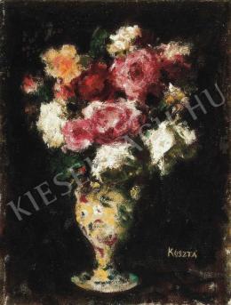 Koszta József - Virágok vázában, 1920 körül