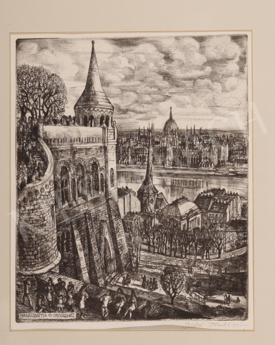 For sale  Szabó, Vladimir - Fisherman's Bastion and House of Parliament 's painting