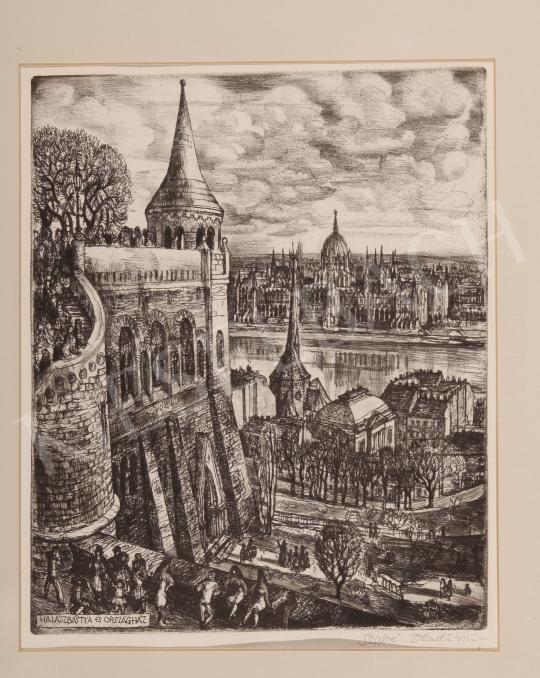 Eladó  Szabó Vladimir - Halászbástya és Országház festménye