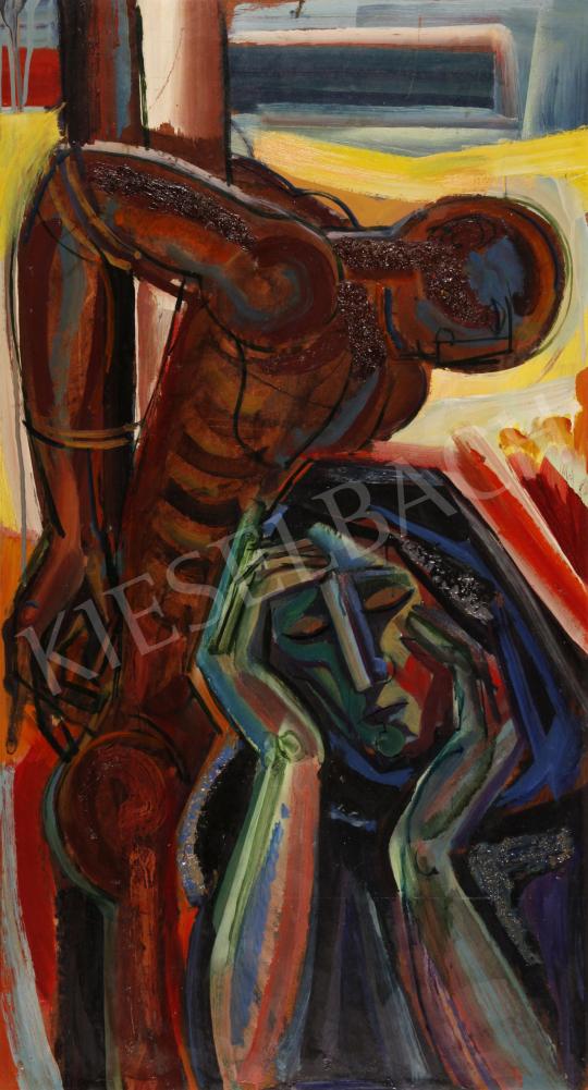 Eladó  Józsa János - Fekvő akt, 1974 festménye