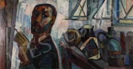 Józsa János - Önarckép csendélettel, 1970