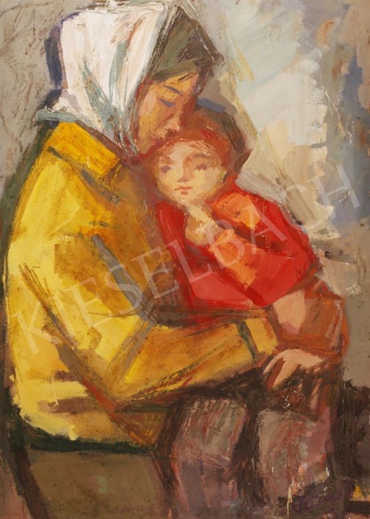 For sale  Józsa, János - Mother and Child, 1957 's painting