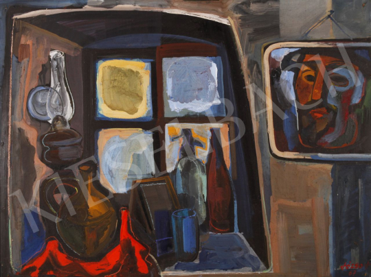 Eladó  Józsa János - Öreg ablak, 1967 festménye