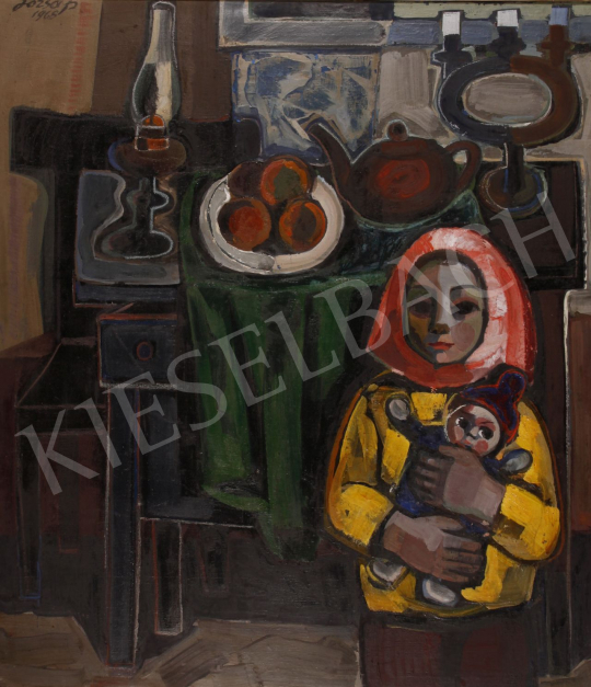 For sale  Józsa, János - Interieur, 1968 's painting