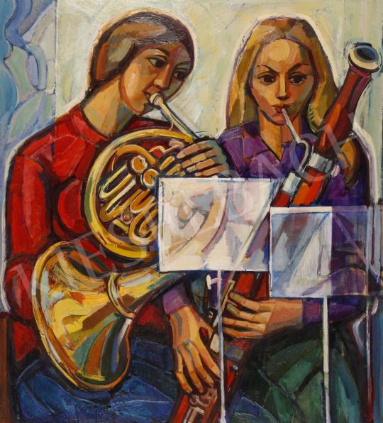 Eladó  Józsa János - Zenélők festménye