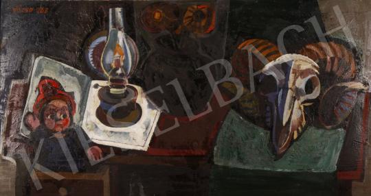 Eladó  Józsa János - Kosfejes csendélet, 1968 festménye
