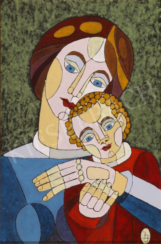 Eladó  Józsa János - Anya gyermekével festménye