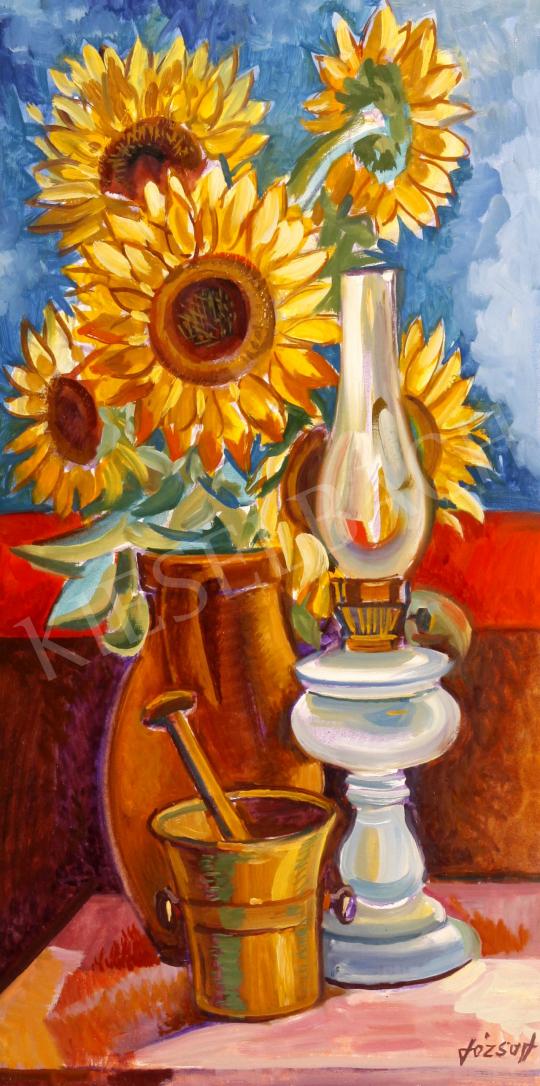 Eladó  Józsa János - Napraforgós csendélet festménye