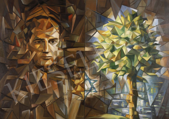Eladó  Zalubel István - Raoul Wallenberg portréja festménye