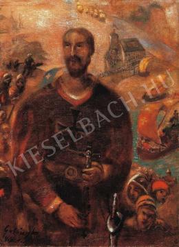 Gulácsy Lajos - Háború (Keresztes vitéz, Padovai Szt. Antal) (1912 körül)