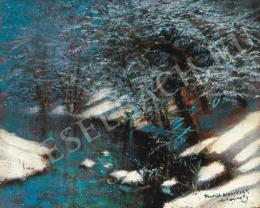 Mednyánszky László - Téli patak, 1910 körül