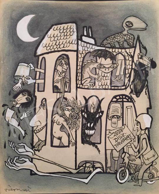Eladó  Várnai György - Mulatságok háza festménye