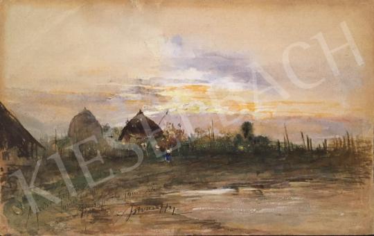 Eladó  Nyergess István - Naplemente, 1900 festménye
