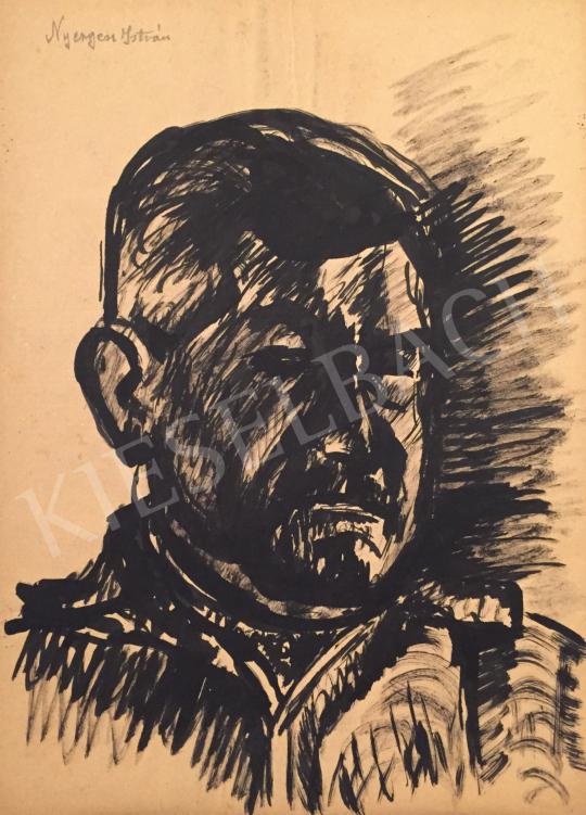 Eladó  Nyergess István - Férfi portré festménye