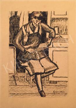 Nyergess István - Olvasó nő