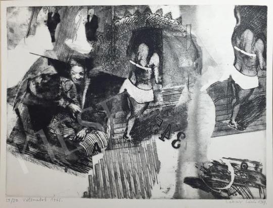 Eladó Lakner László - Változatok, 1966-67 festménye